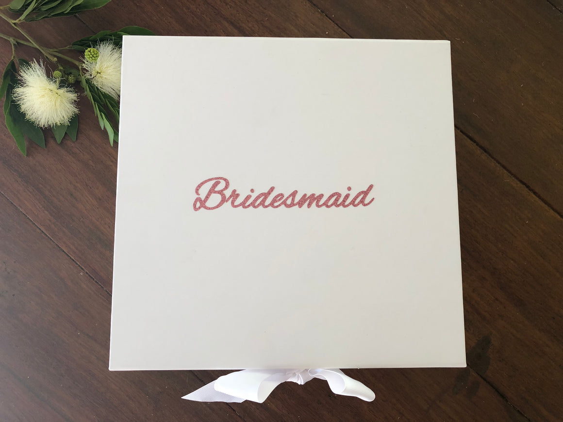 White Bridal Party Generic Boxes