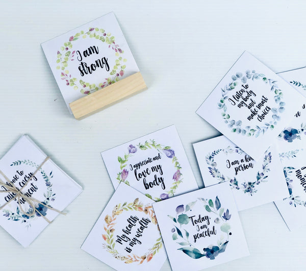affirmation cards  beautiful boxes