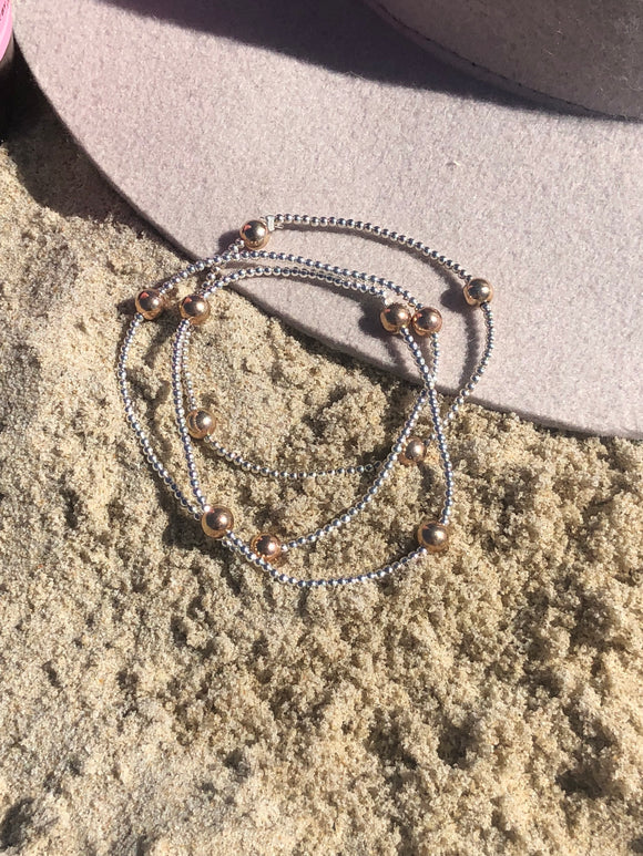 Rose Gold Ball Bracelet