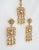 Antique gold polki traditional choker necklace set with earrings indian wedding