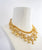 Gold american diamond cubic zircon necklace choer set reception evening glamour