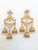 antique gold plated polki jhumka earring for that traditional look