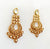 Antique meenakari fusion kundan gold earring