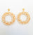 gold pearl circle shaped fusion earrings traditional jewellery
