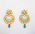Mint green chandbali kundan luxe earring