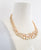 Gold uncut american diamond necklace set with earrings
