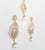 Gold american diamond cubic zircon & pearl necklace with earrings reception evening elegance