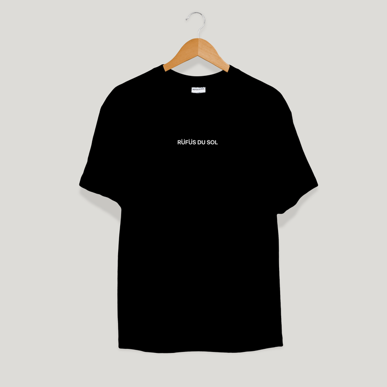 Black Embroidered Logo Tee