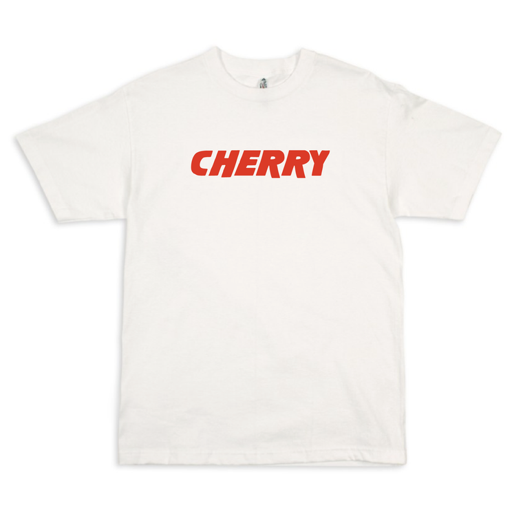 Cherry Logo / White T-shirt