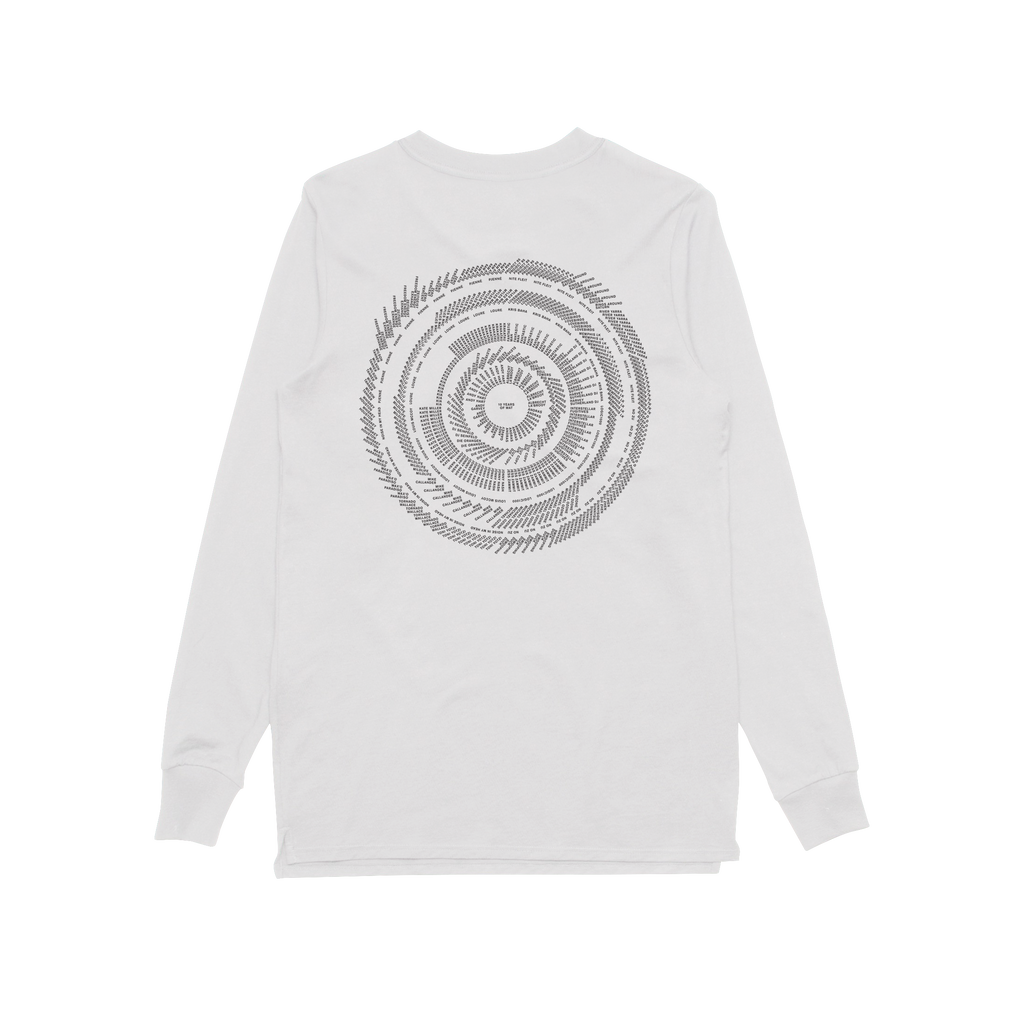 10 Years / White Longsleeve