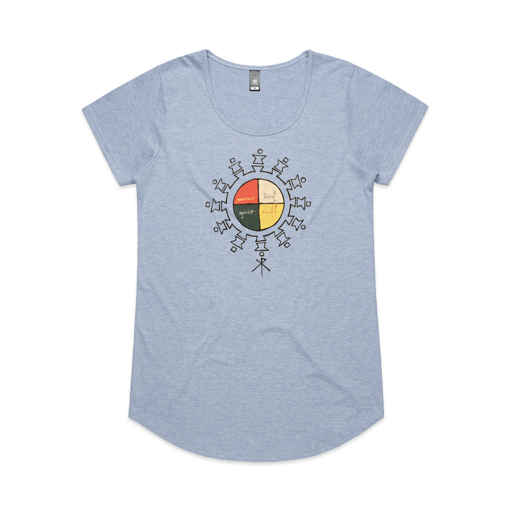 Spirit Bird / Womens Blue T-Shirt