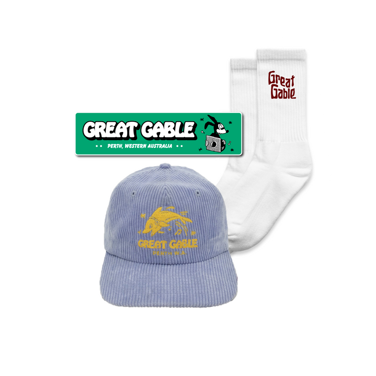Cap, Socks + Sticker Bundle