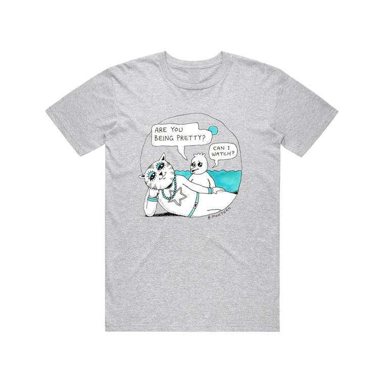 Are You Being Pretty? /  Grey Marl T-shirt