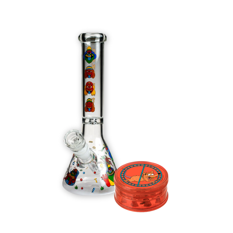 Too Tough Terry Glass Bong and Grinder