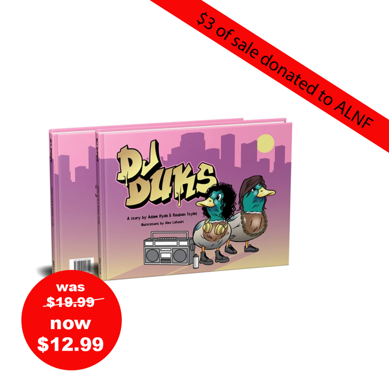DJ DUKS Book - $3 of sale donated to ALNF