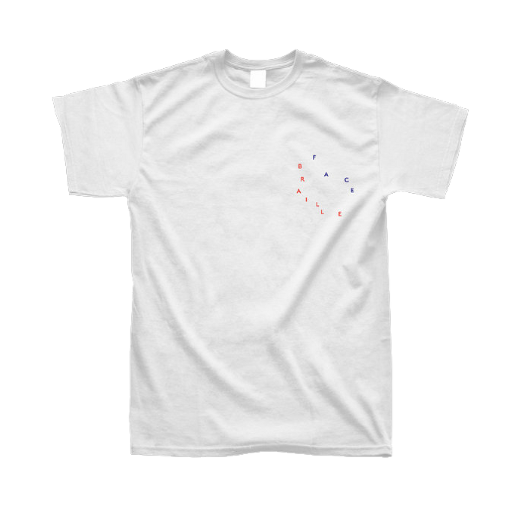 Braille Face / Kōya Tee / White
