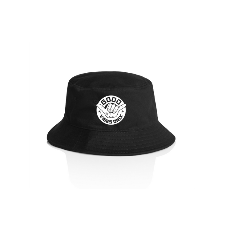 Good Vibes Only Bucket Hat / Black