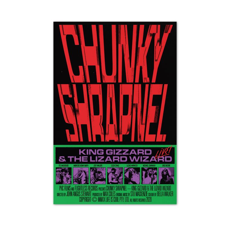 ***PRE ORDER*** Chunky Shrapnel by Bráulio Amado / Limited Edition Poster