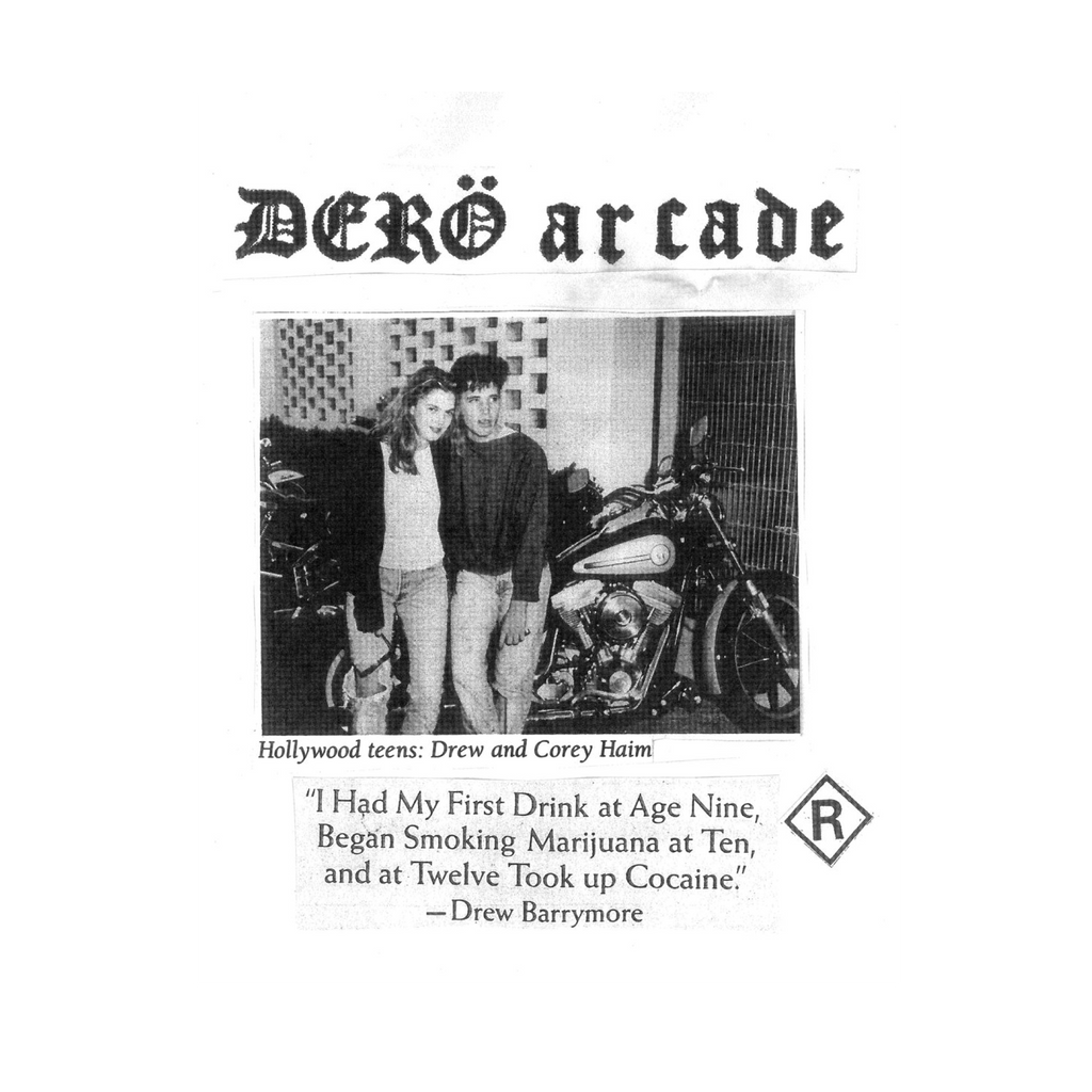 Dero Arcade 'Drew And Corey' / White & Black T-shirt