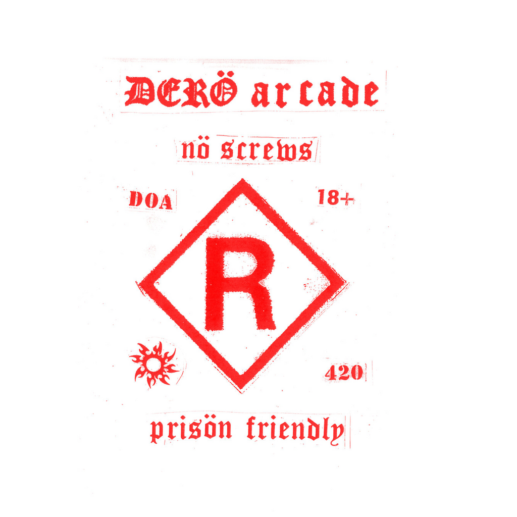 Dero Arcade 'Prison Friendly' / White & Red T-shirt
