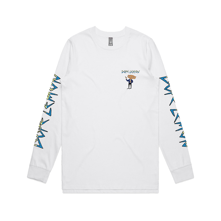 Smoking Cat / White Longsleeve
