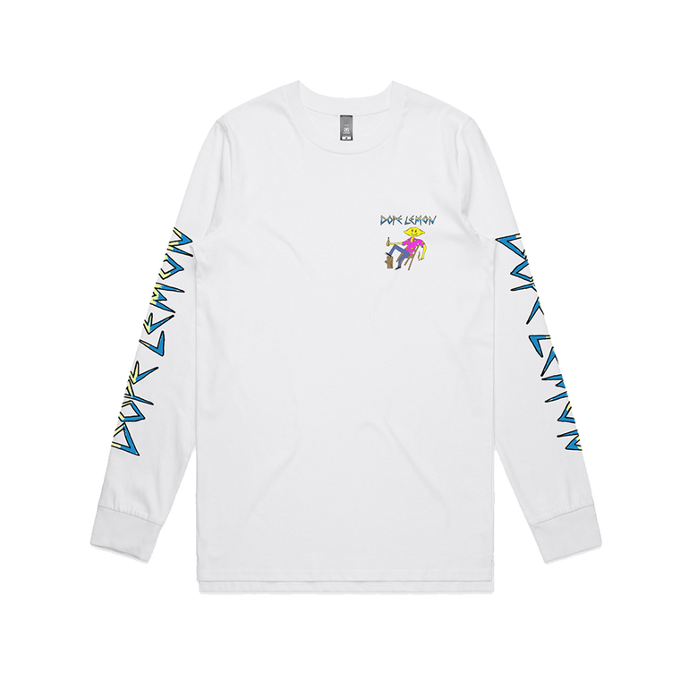 Log Lemon / White Longsleeve