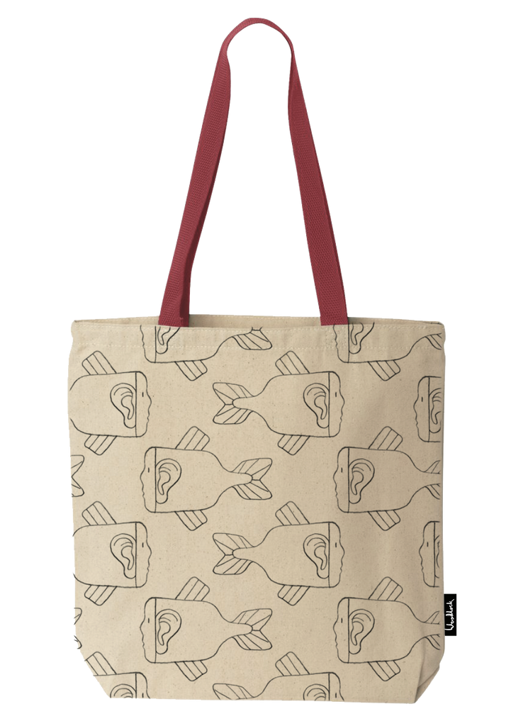 Fishy / Natural Tote Bag