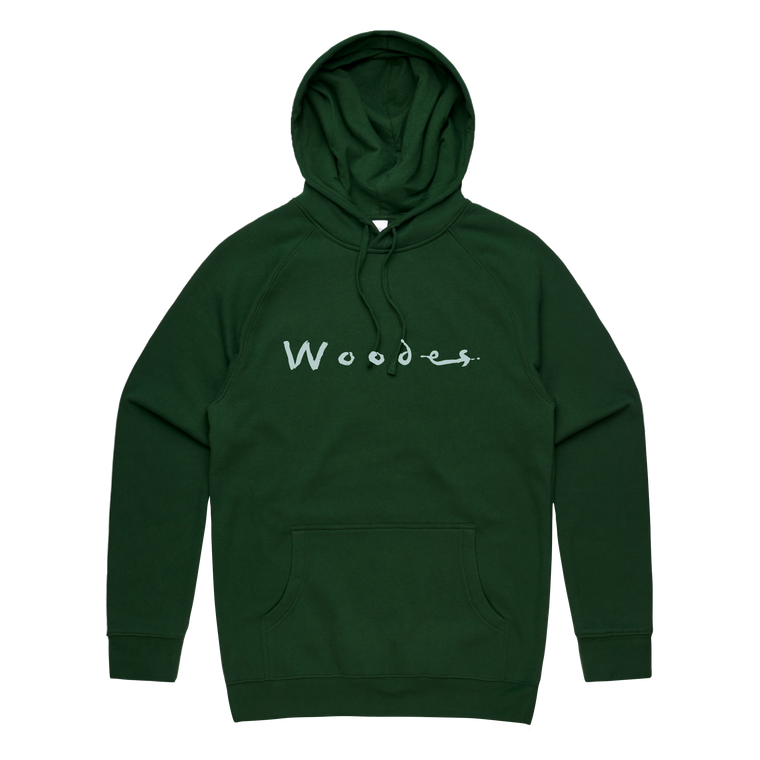 Crystal Ball / Forest Green Embroidered Hoodie