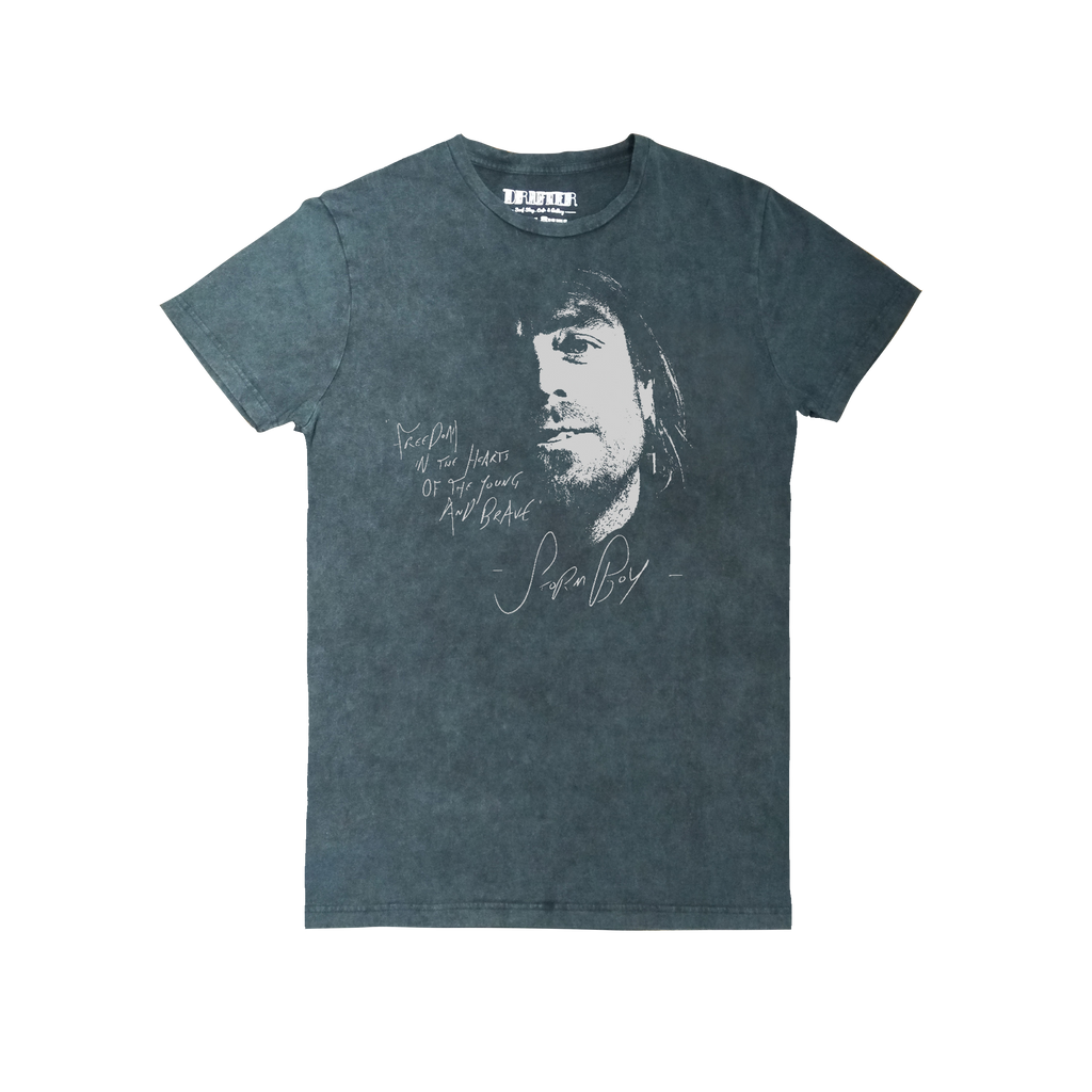 Freedom / Grey Acid Wash T-shirt