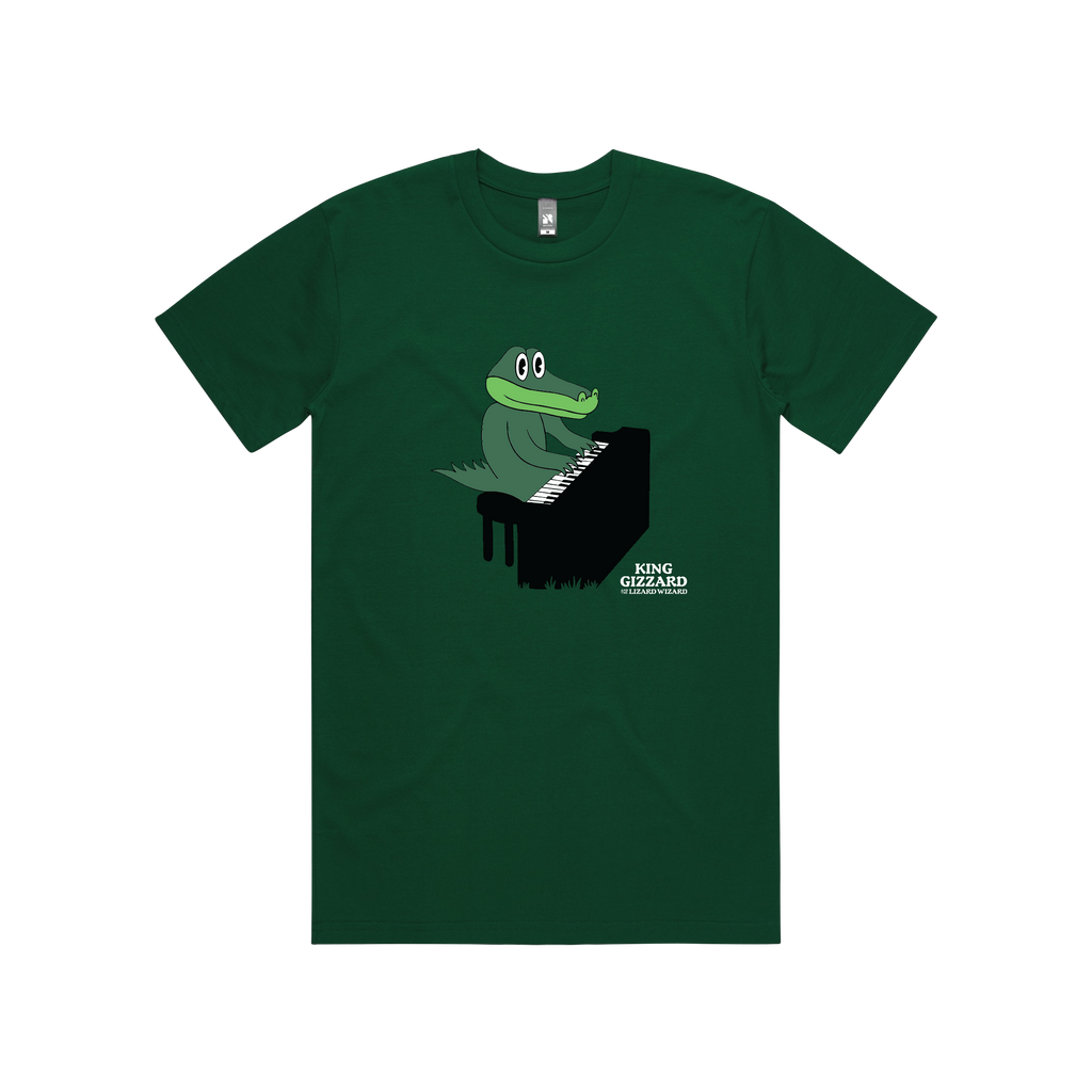 Gator Piano / Green T-shirt