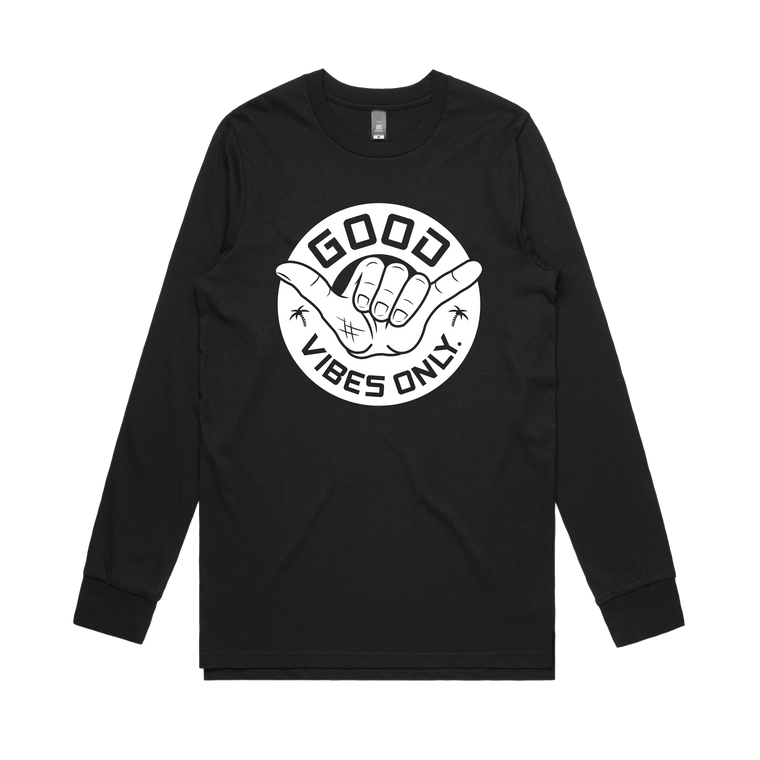Good Vibes Only Long Sleeve / Black