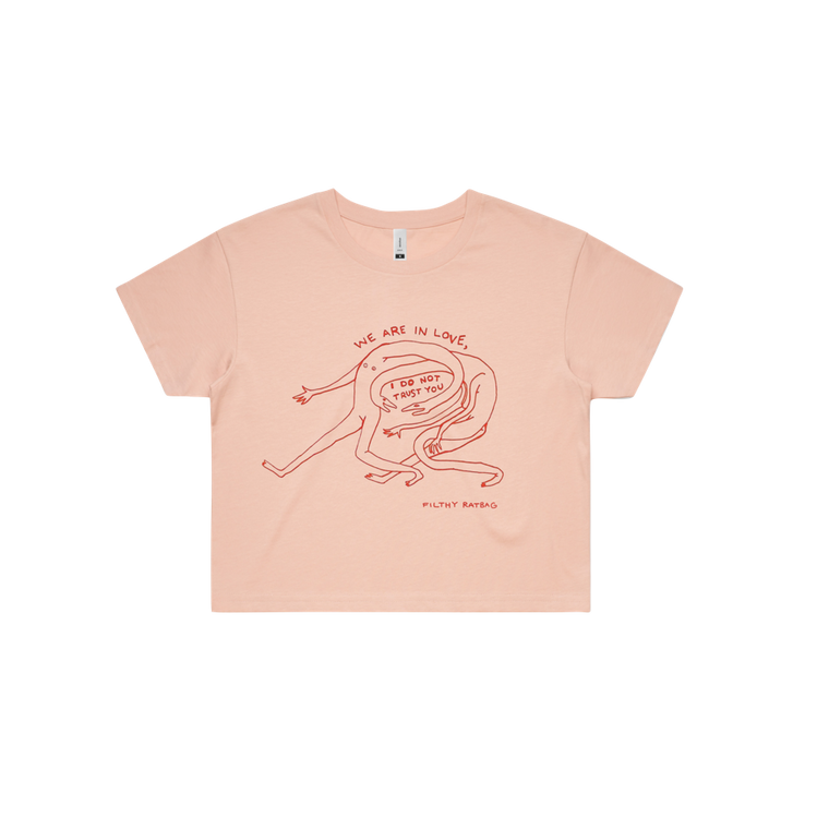 I Do Not Trust You / Pink Crop T-shirt