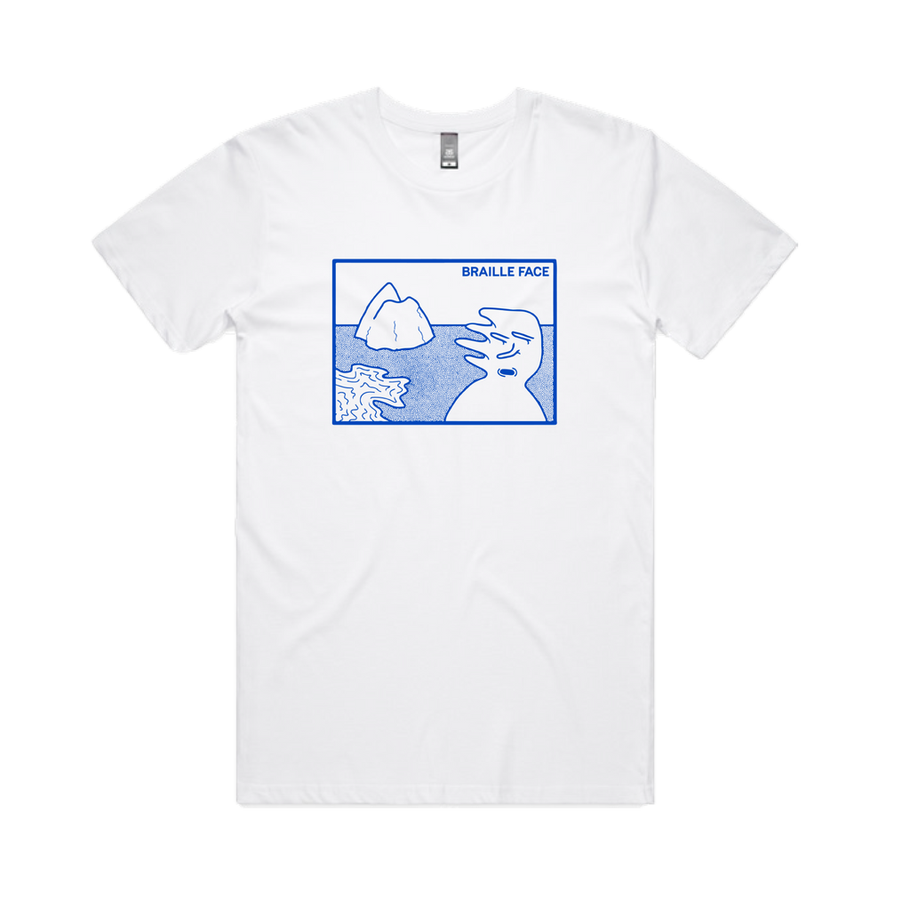 Braille Face / Iceburg Tee / White