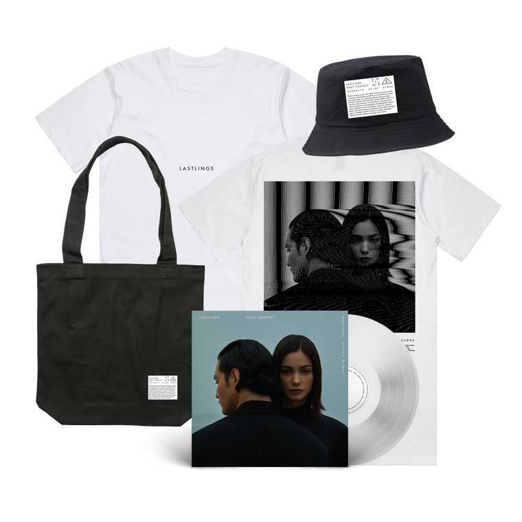 Lastlings / First Contact Tee & Deluxe Vinyl & Hat Bundle ***PRE-ORDER***