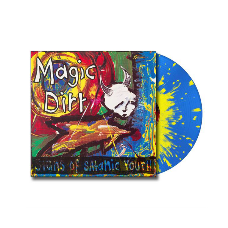 Magic Dirt / Signs Of Satanic Youth EP Vinyl (Blue Vinyl w Yellow Splatter)
