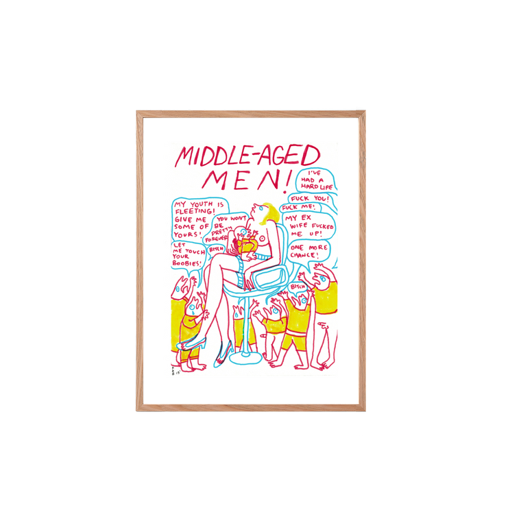 Middle Aged Men / Framed Original