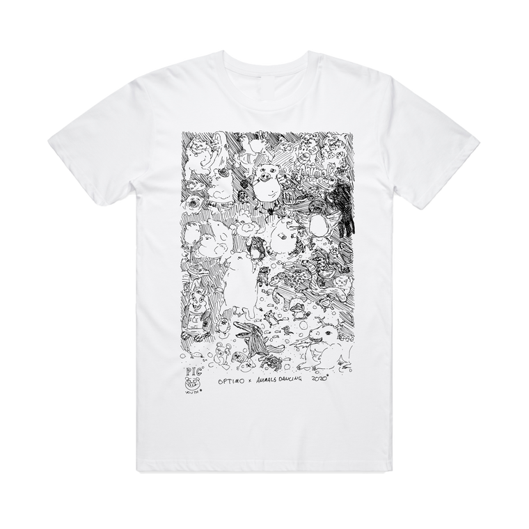 Optimo x Animals Dancing / White T-Shirt ***PRE-ORDER***