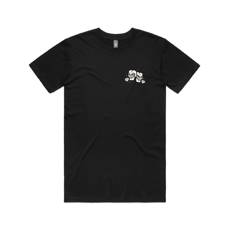 Fire Skulls / Black T-Shirt