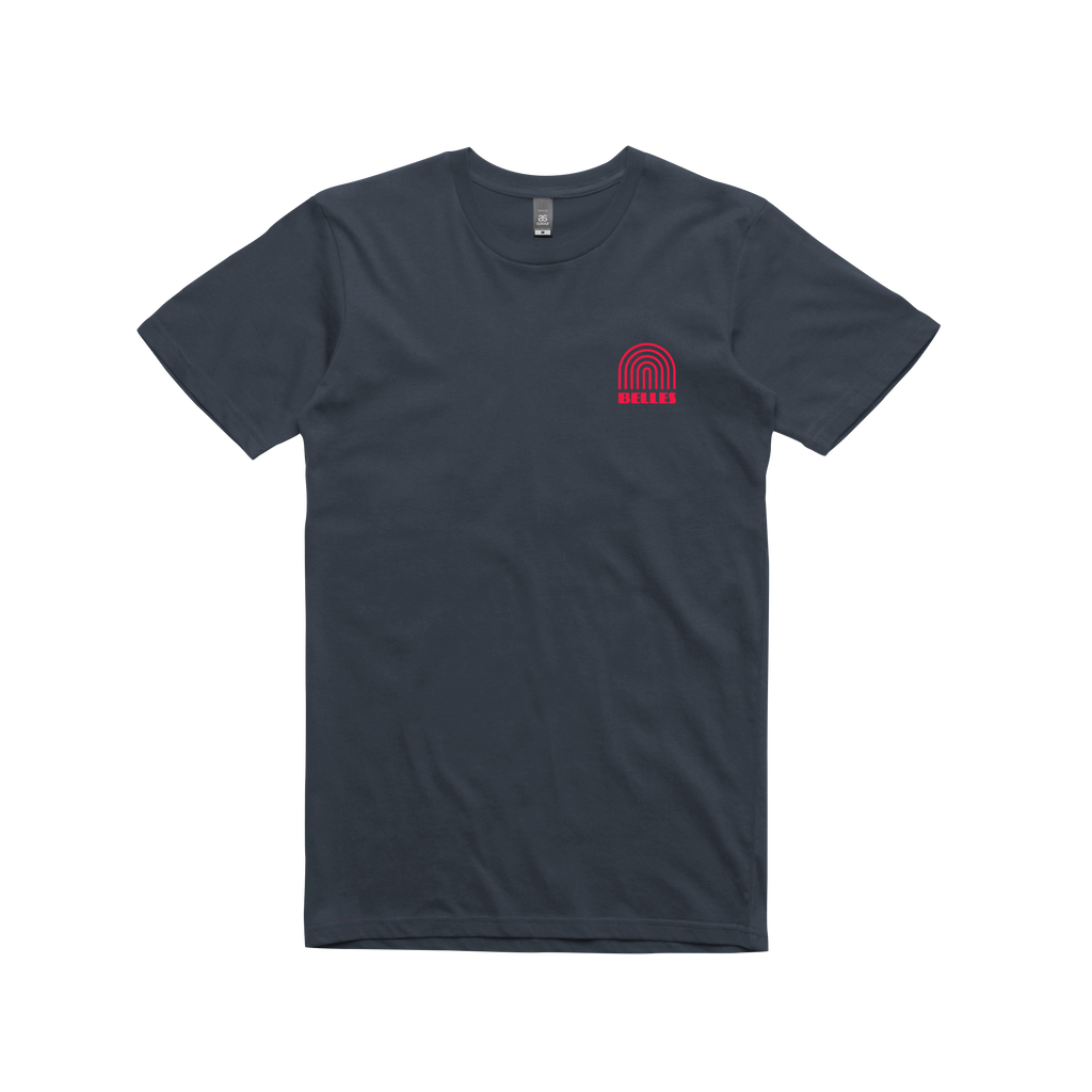 Rainbow Logo / Navy t-shirt