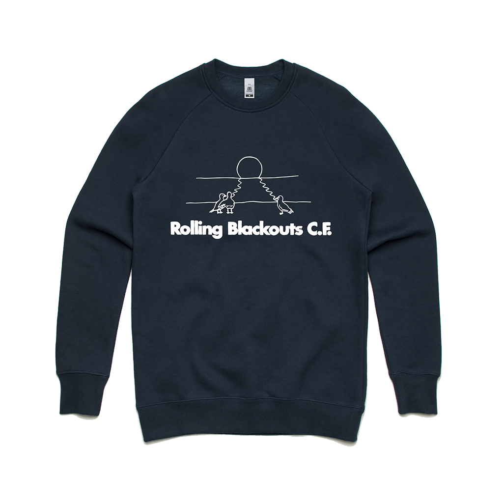 Gulls / Navy Crew Sweater