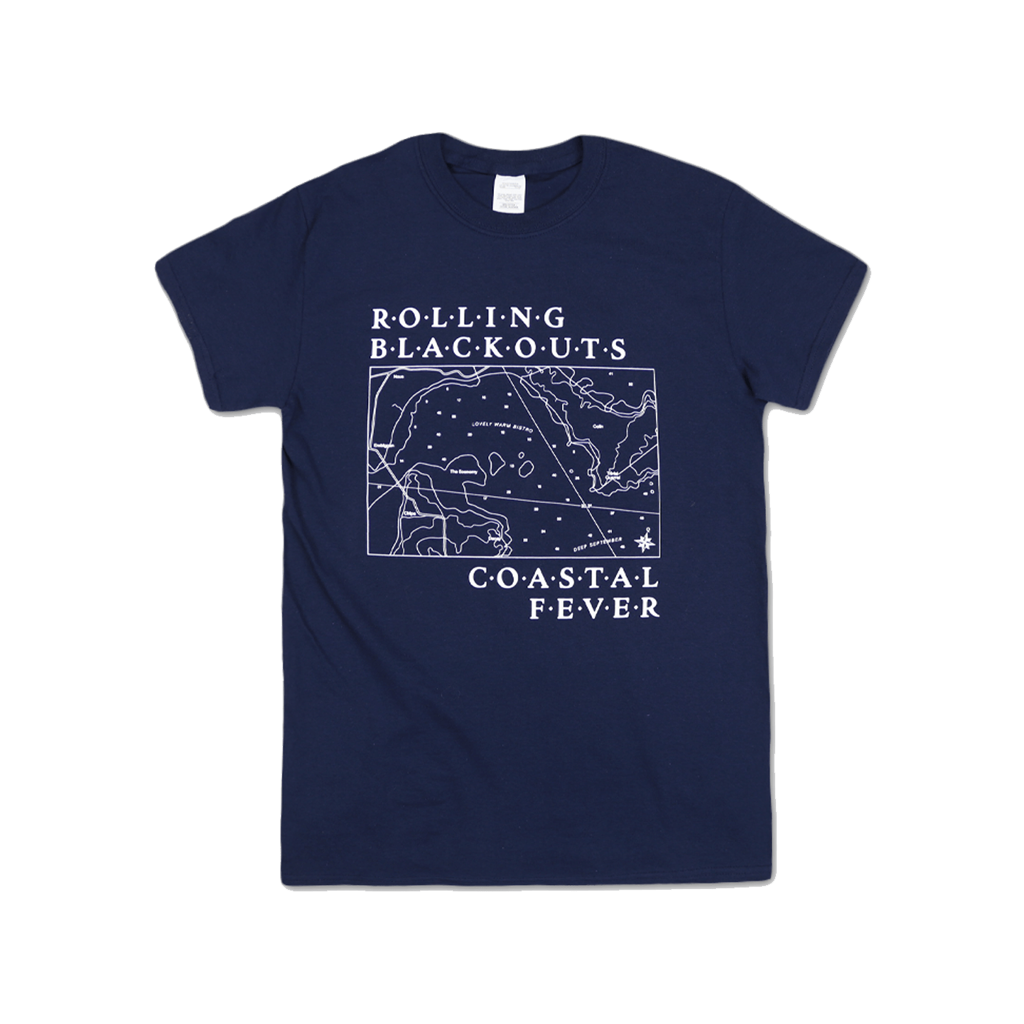 Map / Navy T-shirt