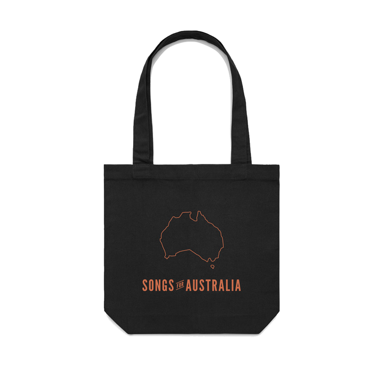 Songs for Australia / Black Tote Bag