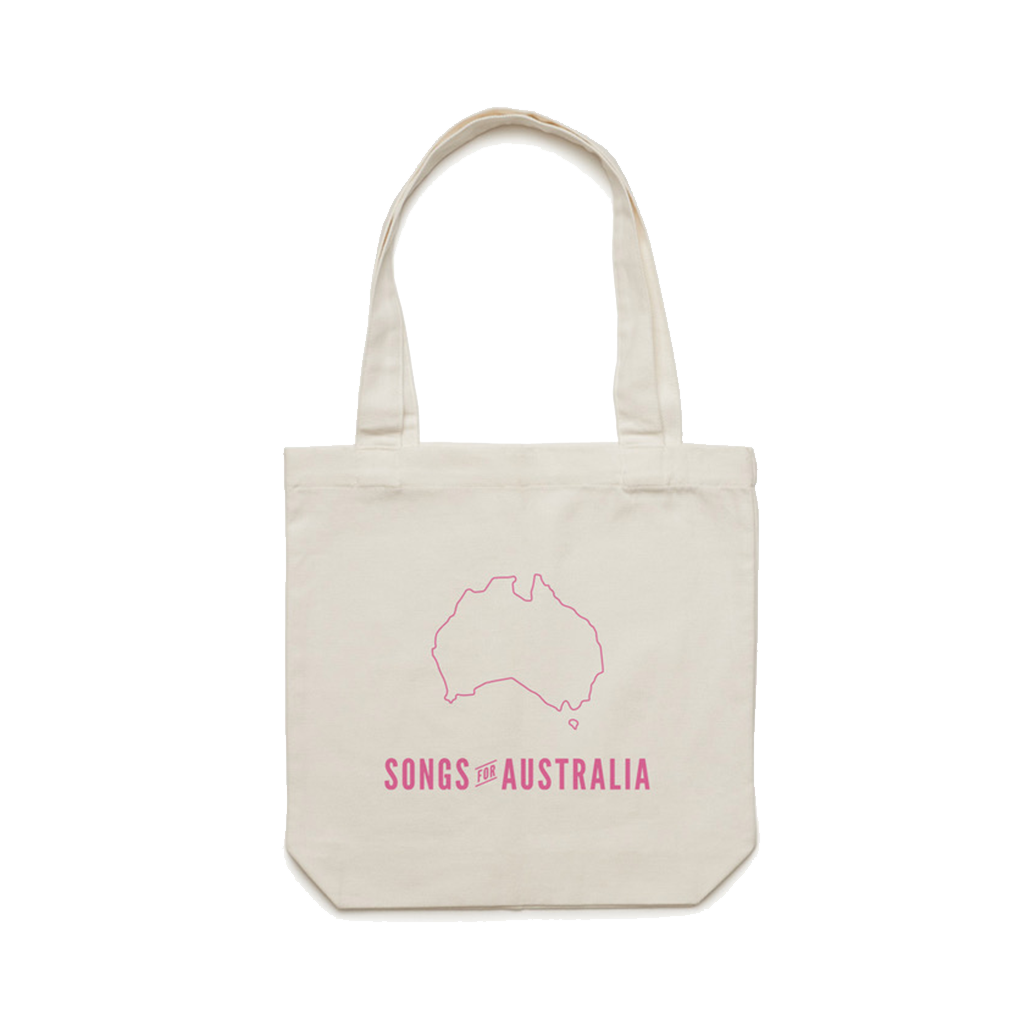 Songs for Australia / Natural T-shirt + Vinyl with your name + Tote Bundle  ***PRE-ORDER***