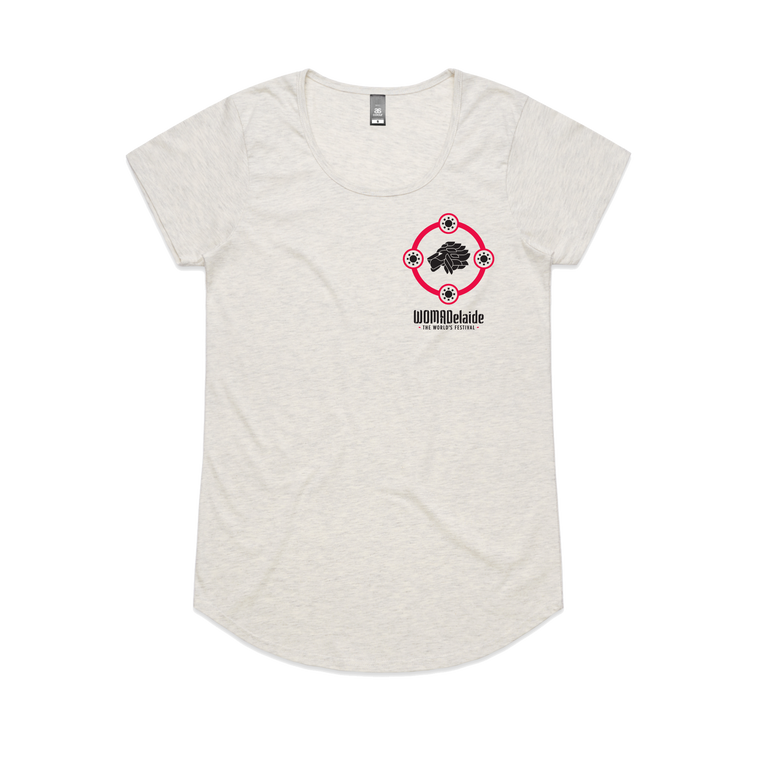 Sun Circle / Womens Oatmeal Marle T-Shirt