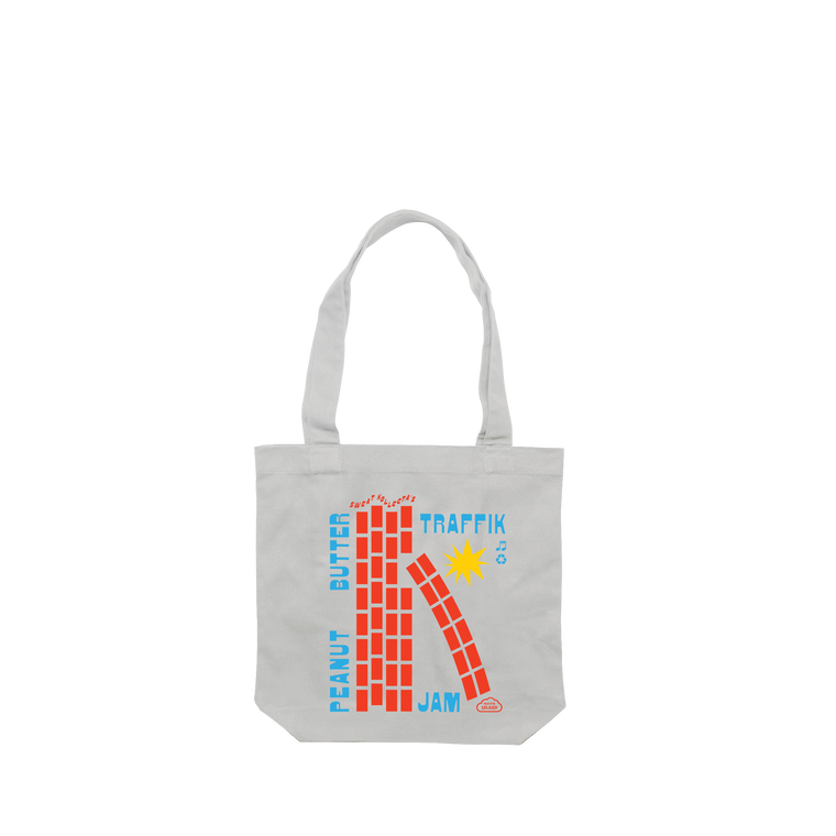 Traffik Jam / Cream Tote Bag