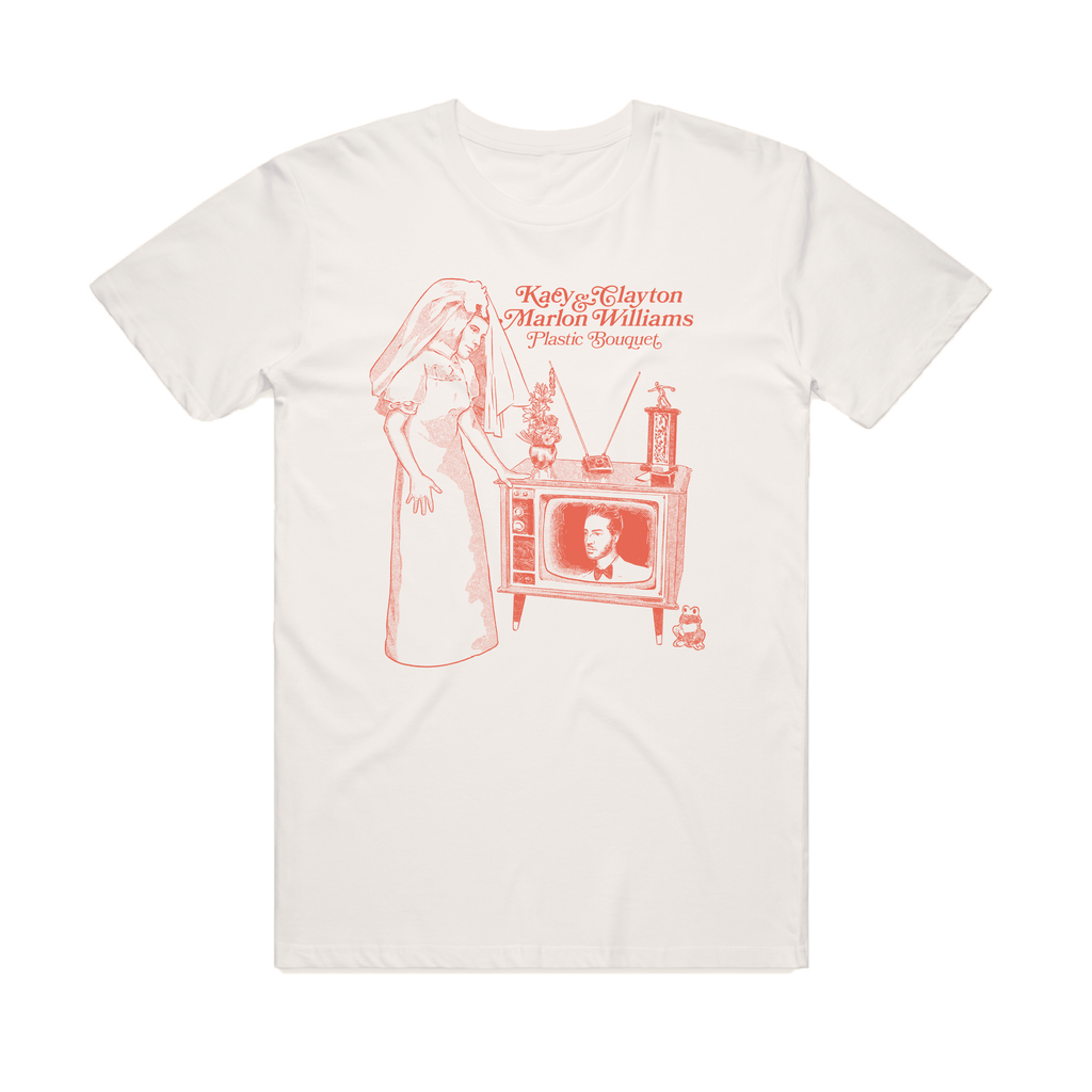 Kacy & Clayton and Marlon Williams / 'Plastic Bouquet' Natural T-shirt