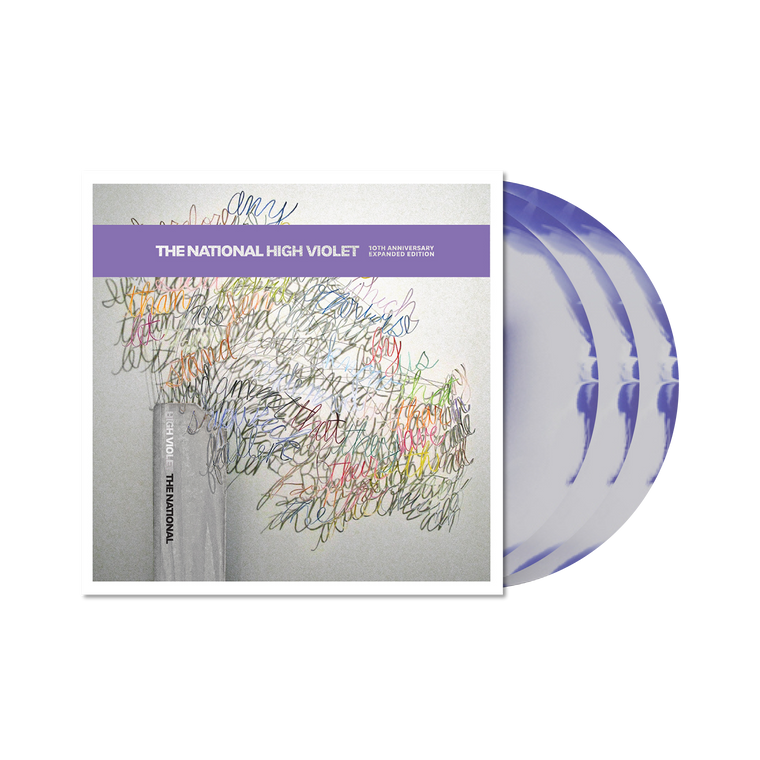 The National / High Violet 3xLP Vinyl (10th Anniversary Expanded Edition Marble White/Violet Vinyl)