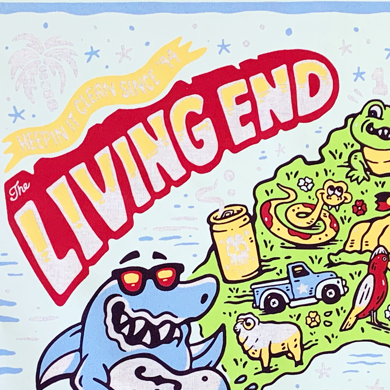 The Living End 'Keeping it Clean since 94'  / Tea Towel