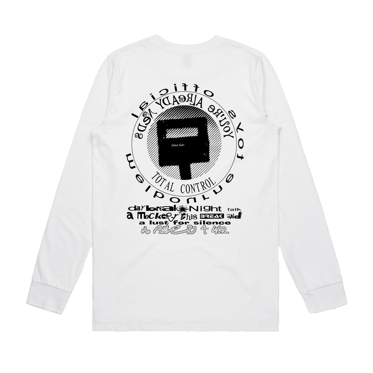 Total Control / White Long Sleeve