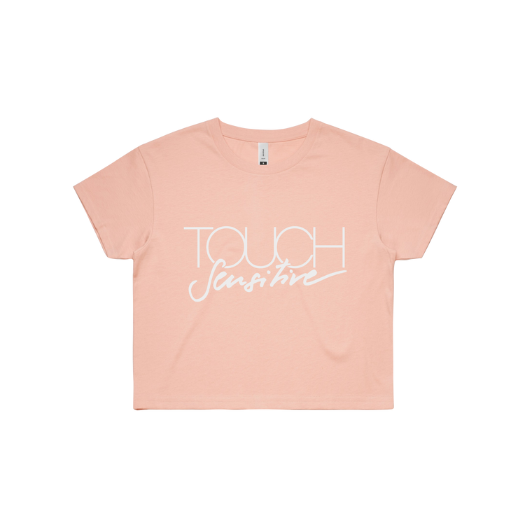 Touch Sensitive Logo / Pale Pink Crop Tee